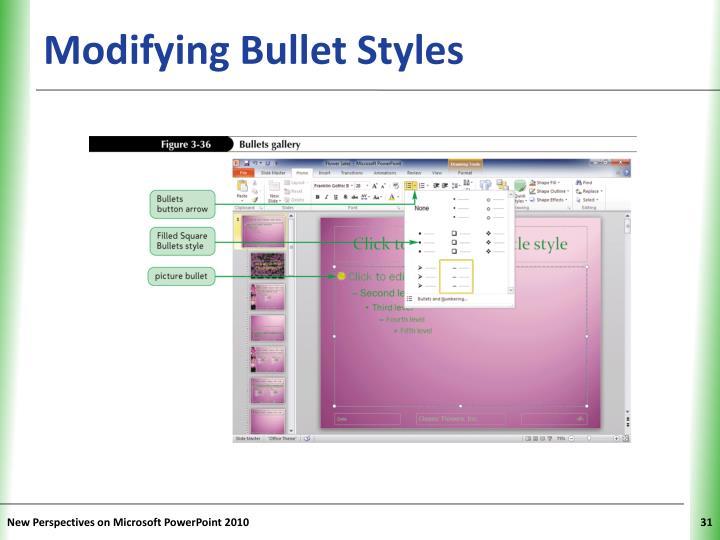 Modifying Bullet Styles