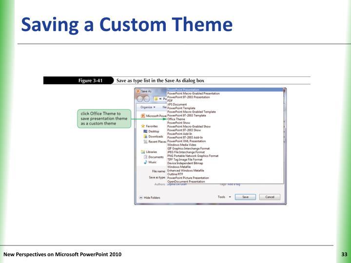 Saving a Custom Theme