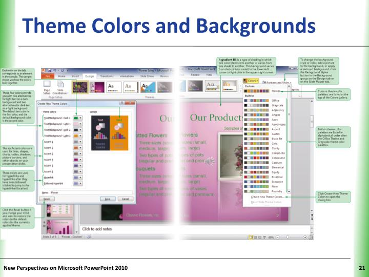 Theme Colors and Backgrounds