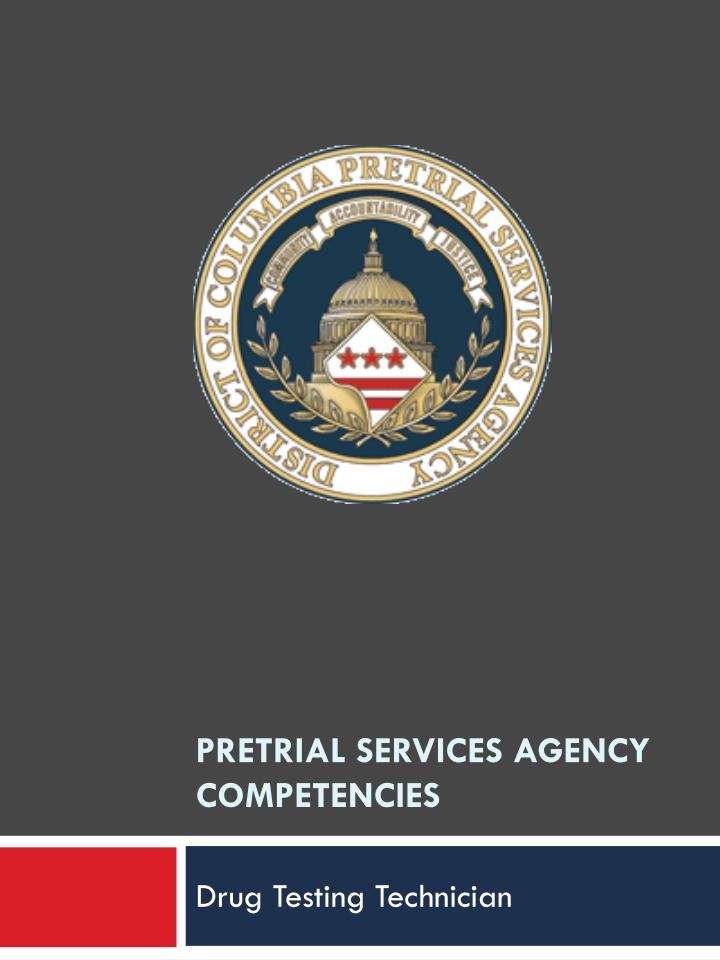 PPT - PreTrial Services Agency Competencies PowerPoint