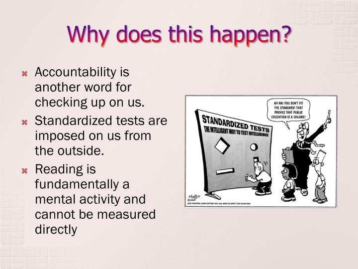 why standardized tests are a false New standardized tests measure student knowledge by asking them to come up with correct answers to math problems and explain how they reached their conclusion.