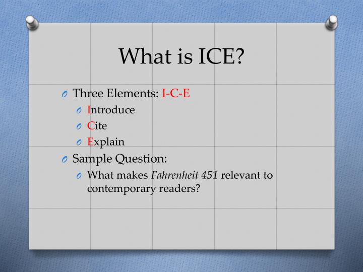 What is ice