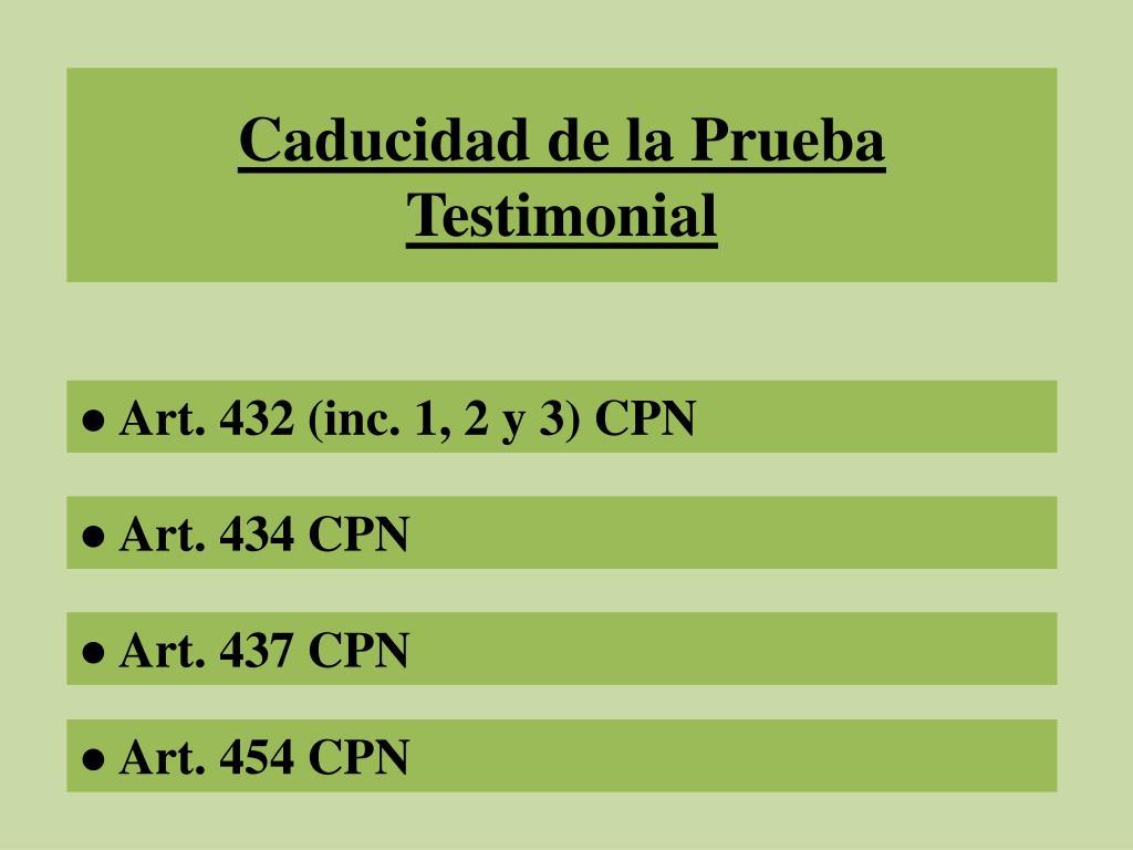 PPT - Prueba Testimonial PowerPoint Presentation - ID:2495196