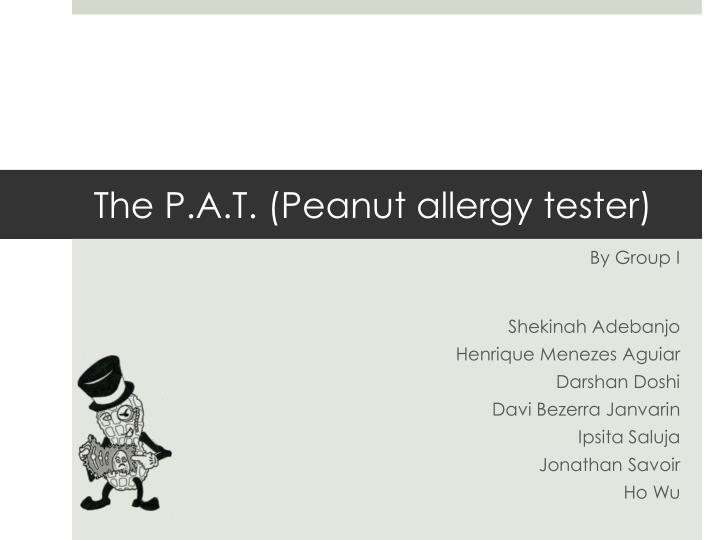 the p a t peanut allergy tester n.