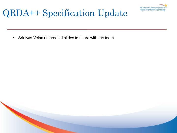 QRDA++ Specification Update
