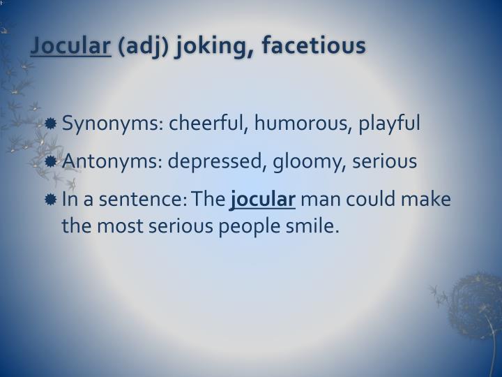 Jocular