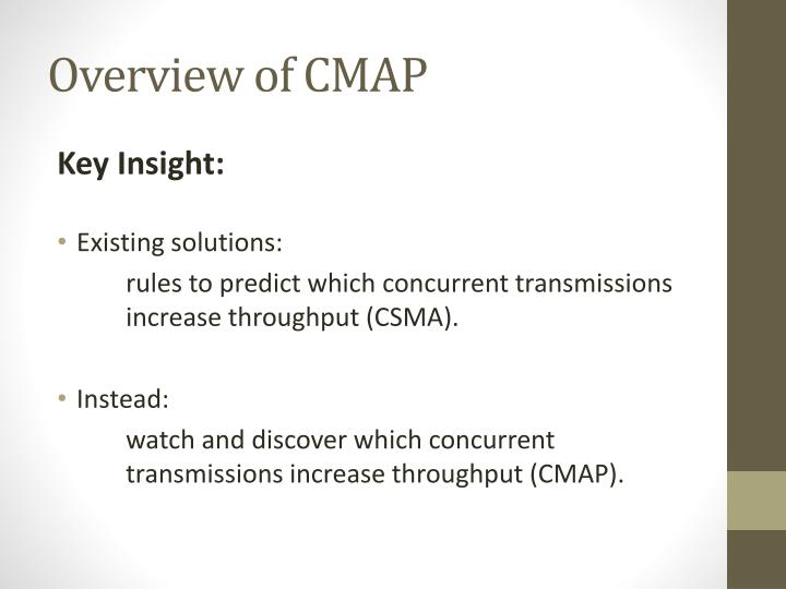 Overview of CMAP