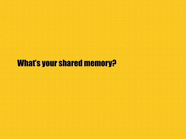 What's your shared memory?