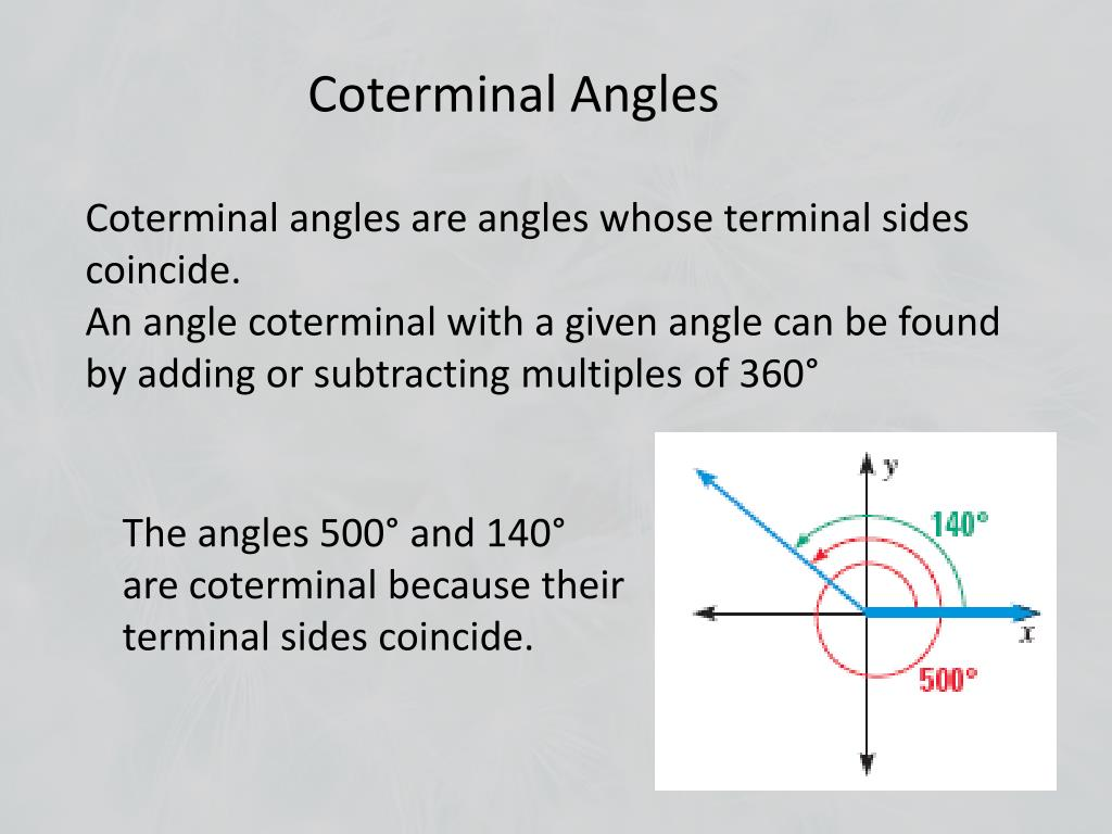PPT - 9.2 Define General Angles and Use Radian Measure ...