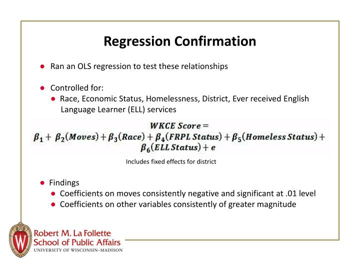 Regression Confirmation