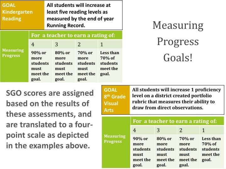 Measuring Progress Goals!