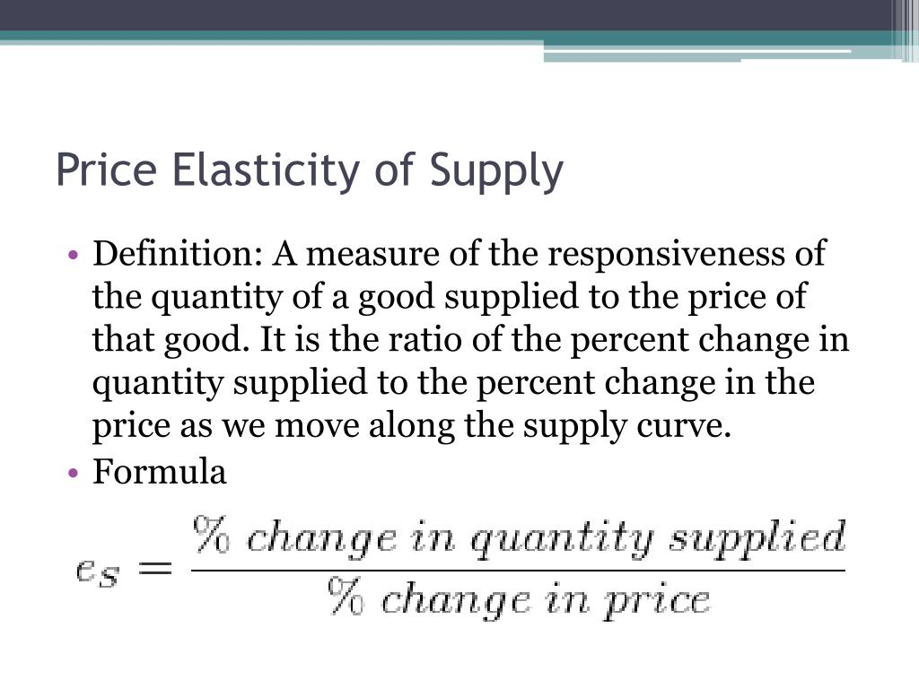 Ppt Interpreting Price Elasticity Of Demand And Other