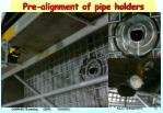 pre alignment of pipe holders