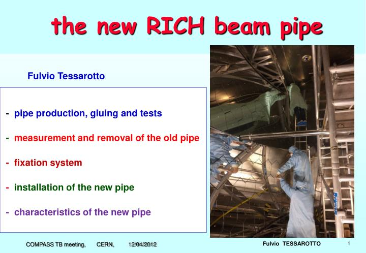 the new rich beam pipe n.