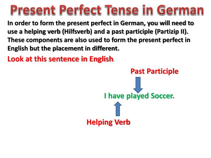 PPT - Present Perfect Tense in German PowerPoint Presentation ...