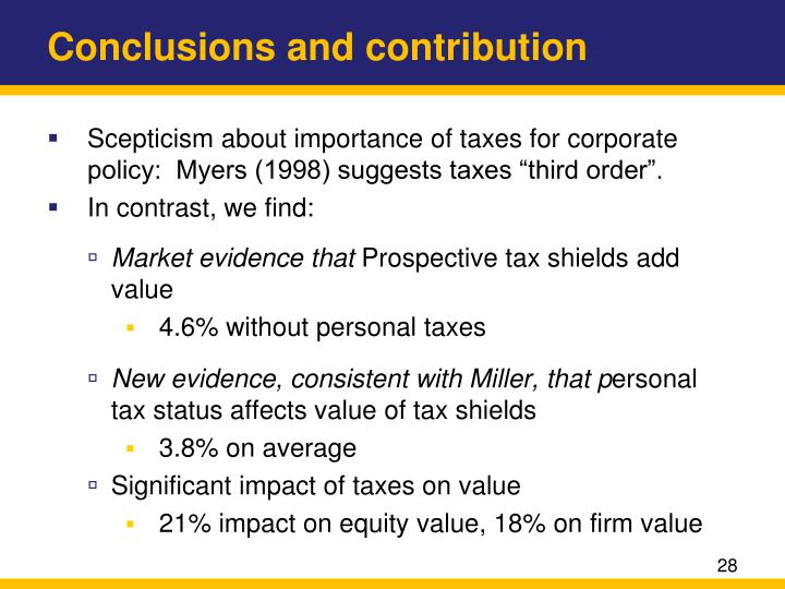 Conclusions and contribution