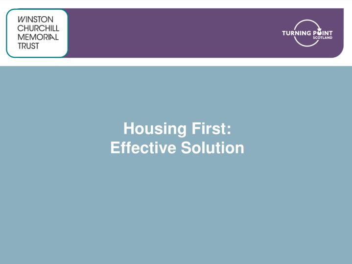 housing first effective solution n.
