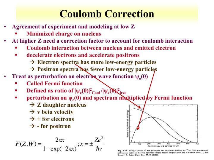 Coulomb Correction