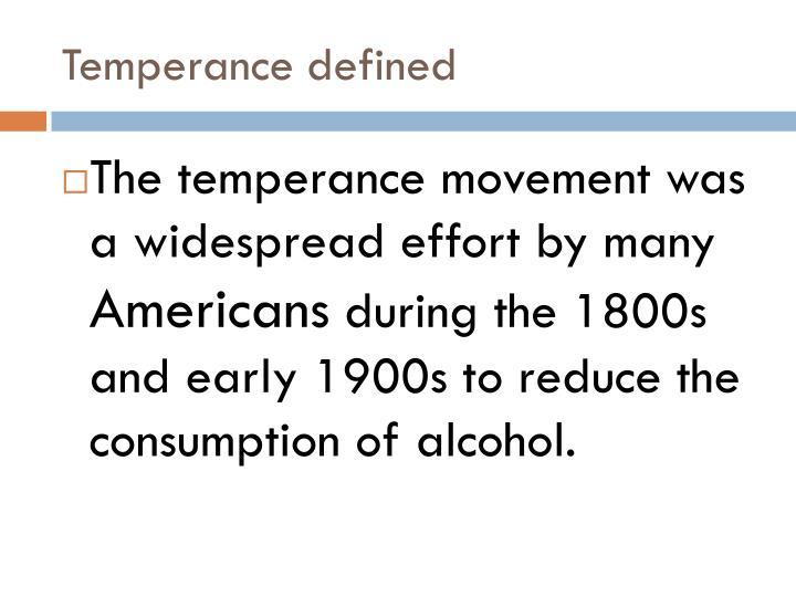 Temperance defined