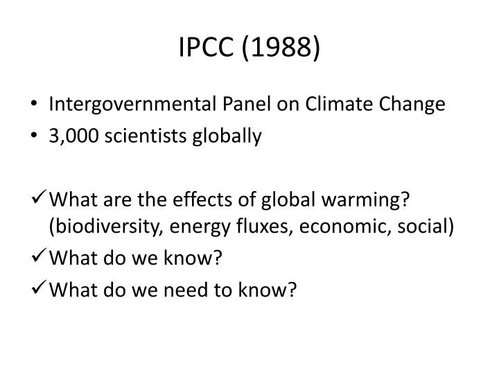 Ipcc 1988