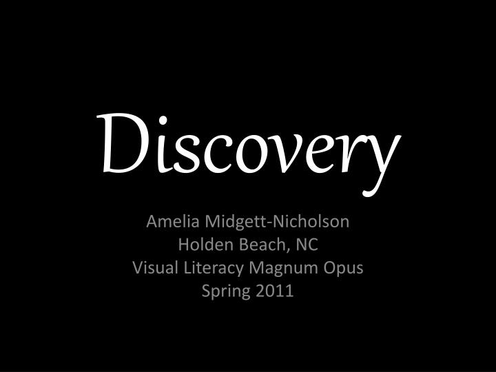 discovery n.