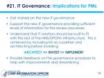 21 it governance implications for pms