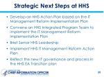 strategic next steps at hhs