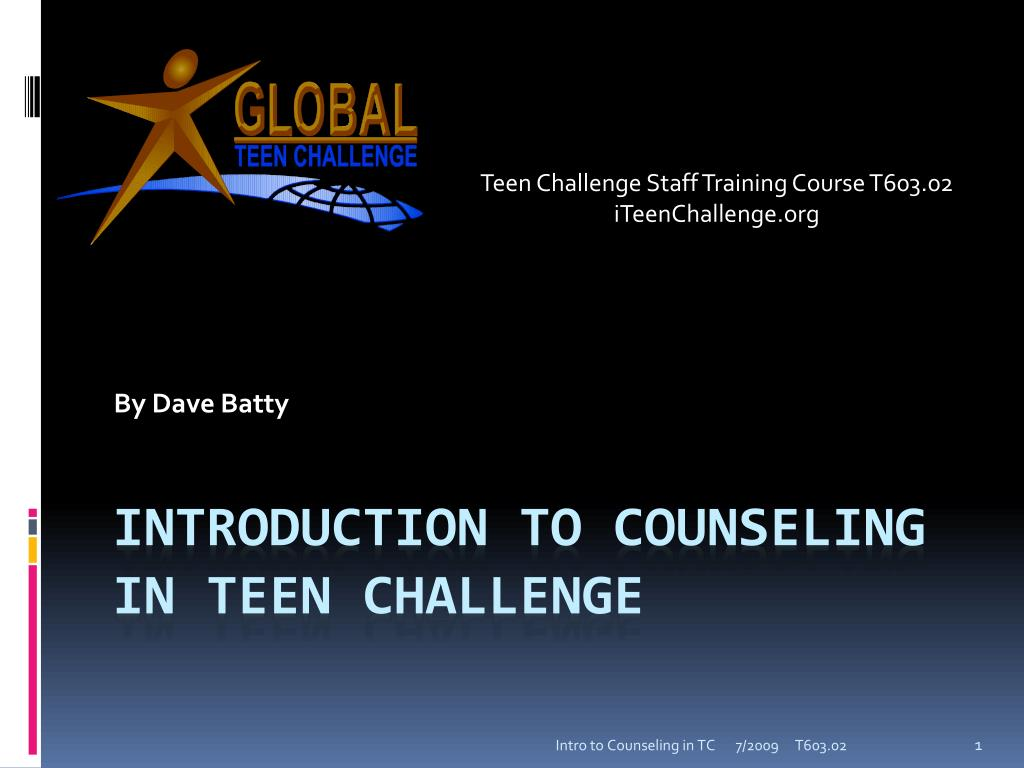 Teen challenge counselors