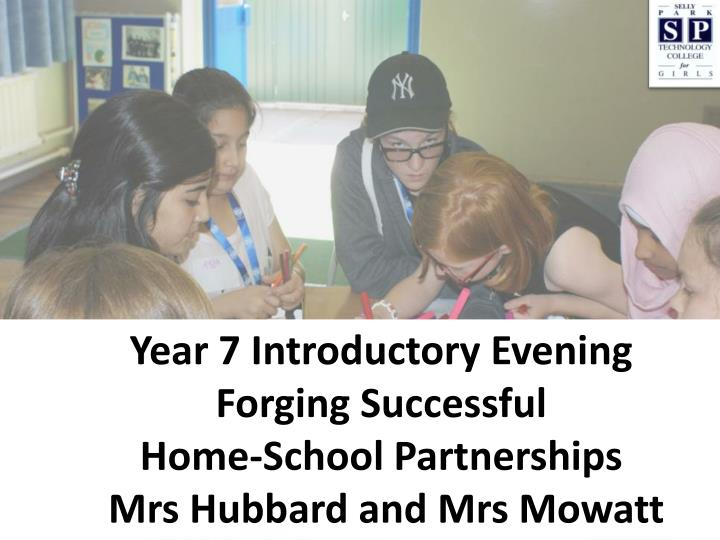 Year 7 Introductory Evening