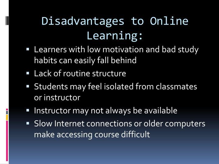 disadvantages of online courses