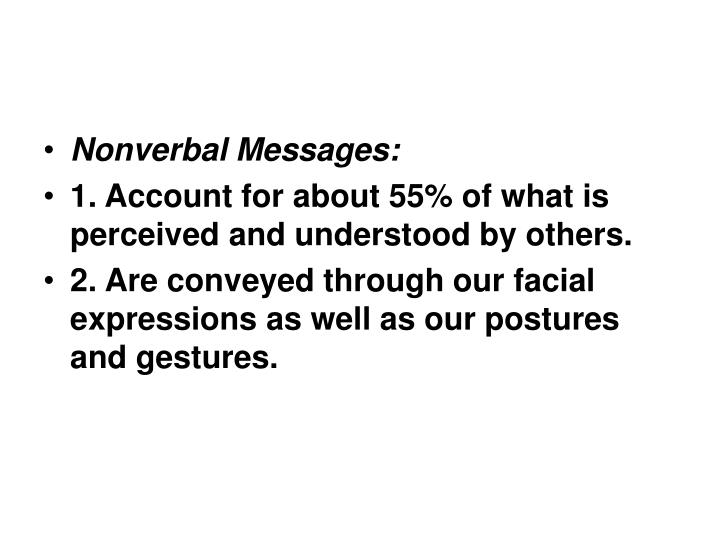 Nonverbal Messages: