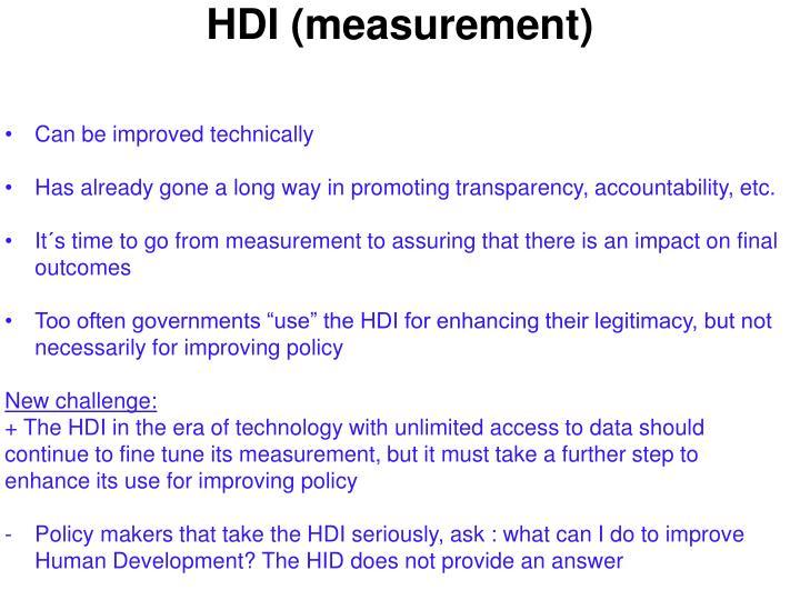 Hdi measurement