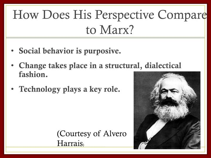 How Does His Perspective Compare to Marx?