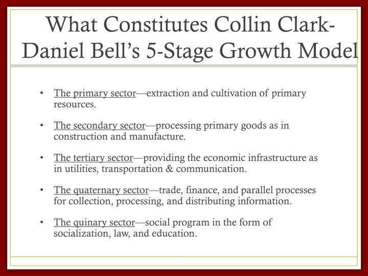 What Constitutes Collin Clark-Daniel Bell's 5-Stage Growth