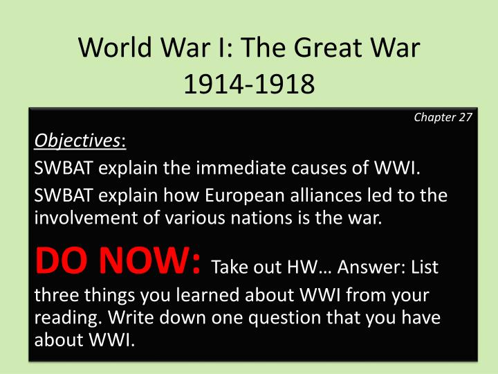 an analysis of the technology and many interweaving of wwi which resulted to the great war The war changed the economical balance of the world, leaving european countries deep in debt and making the us the leading industrial power and creditor in the world inflation shot up in most countries and the german economy was highly affected by having to pay for reparations.