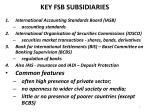 key fsb subsidiaries