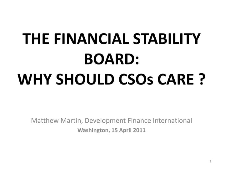 the financial stability board why should csos care n.