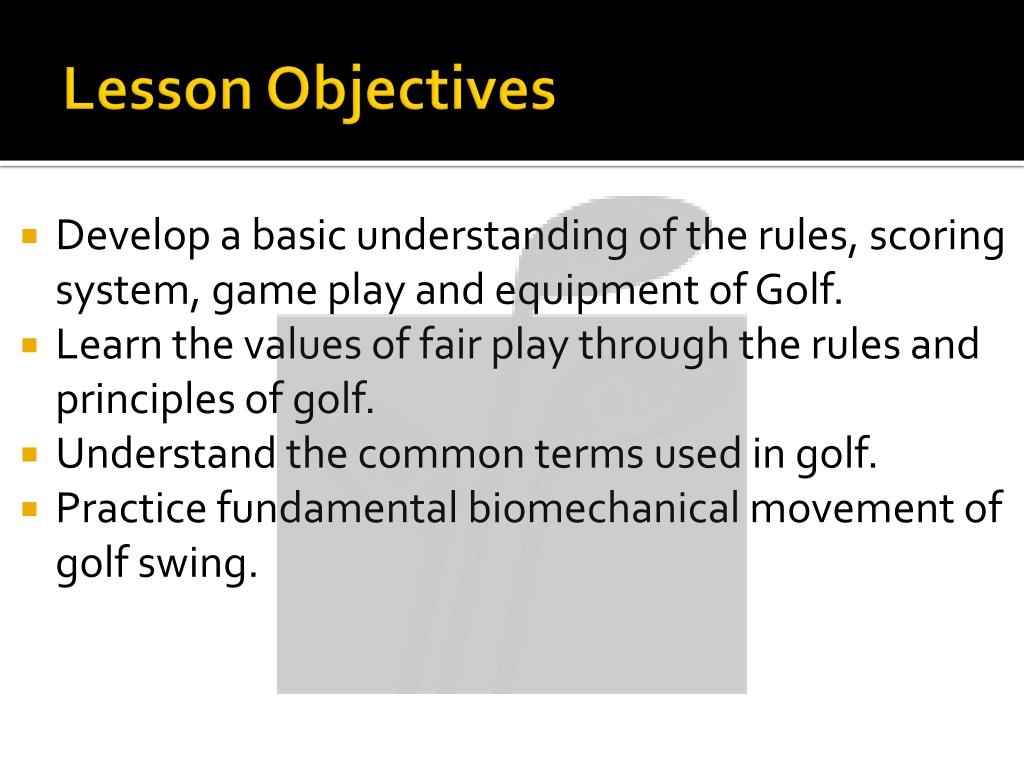 PPT - Game-based learning [Learn-to-play Golf using Wii