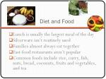 diet and food