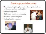 greetings and gestures