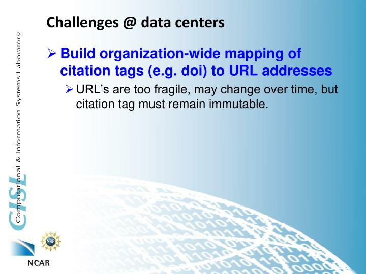 Challenges @ data centers