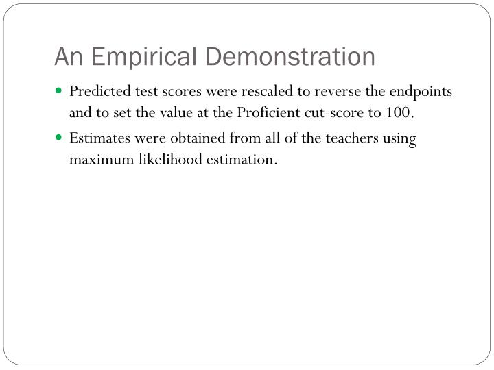 An Empirical Demonstration