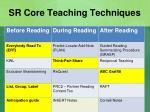 sr core teaching techniques