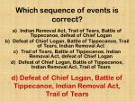 which sequence of events is correct
