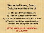 wounded knee south dakota was the site of
