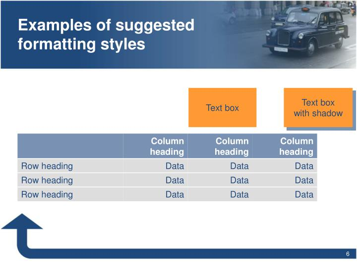 Examples of suggested