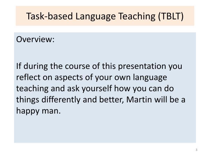 Task based language teaching tblt2