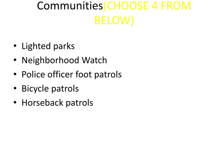 Ways to Stop Violence in Communities