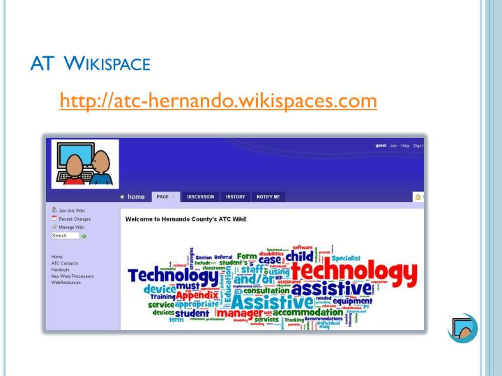 At wikispace