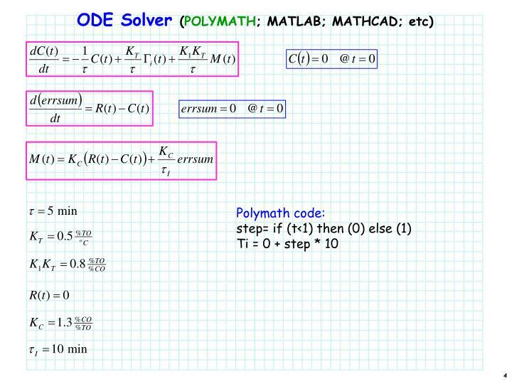 ODE Solver